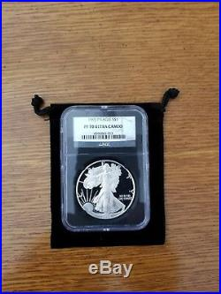 1993-P Proof Silver American Eagle PF-70 UCAM NGC (Retro Black Holder)