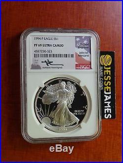 1994 P Proof Silver Eagle Ngc Pf69 Ultra Cameo Rare Mercanti Signed