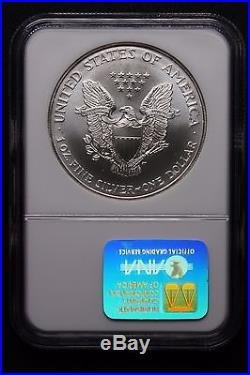 1995 American Silver Eagle Coin NGC MS70 GradeTough
