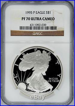 1995-P NGC PF70 Ultra Cameo Proof Silver Eagle