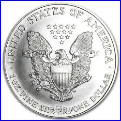1995 Roll 20 Coins 1 Troy Oz American Silver Eagle Ms Bu. 999 Silver Dollar $1