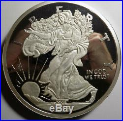 1995-Washington Mint American Eagle design 5 Pound 60 troy oz. 999 silver round