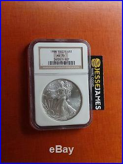 1996 American Silver Eagle Ngc Ms70 Top Pop. Light Spotting, Priced Generously