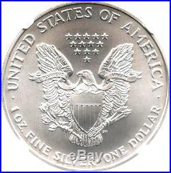1998 Silver Eagle $1 NGC MS70 Rare Grade American Eagle Silver Dollar ASE