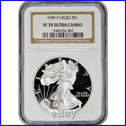 1999-P Proof Silver Eagle NGC PF70 UCAM