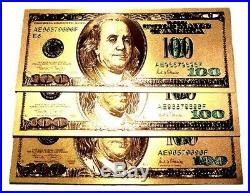 1 Troy Ounce. 999 Fine 2018 American Silver Eagle Bu + 99.9% 24k Gold $100 Bill