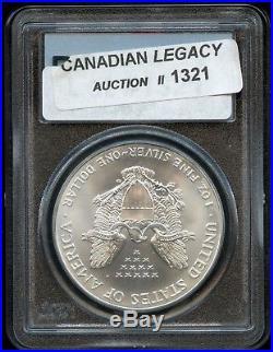 1 of 1000 PCGS MS69 2001 WTC GROUND ZERO 1oz Silver Eagle / World Trade Center