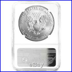 2001 $1 American Silver Eagle NGC MS70 Brown Label
