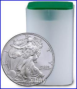 2001 1 Troy Oz. 999 American Silver Eagle (Roll of 20 Coins) SKU26718
