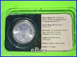 2001 Silver American Eagle $1 Littleton Coin Co. Uncirculated MIB STUNNING