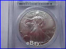 2002 American Silver Eagle PCGS MS 70 rare very low pop of 190 Lucky coin