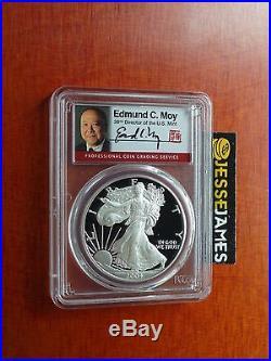 2004 W Proof Silver Eagle Pcgs Pr70 Dcam Very Rare Edmund C. Moy Signed Label