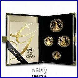 2005 W American Gold Eagle 4 Coin Proof Set w Box COA Platinum Silver Palladium