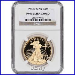 2005-W American Gold Eagle Proof (1 oz) $50 NGC PF69 UCAM