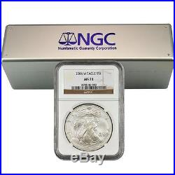 2006-2015 W Burnished Silver Eagle Set NGC MS70 (8 Coins)