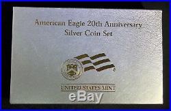 2006 American Eagle 20th Anniversary Silver 3 Coin Set with Box + COA
