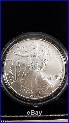 2006 American Silver Eagle 20th Anniversary Silver 3 Coin Set
