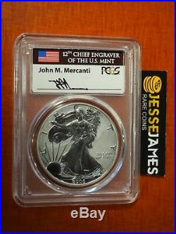 2006 P Reverse Proof Silver Eagle Pcgs Pr70 Mercanti From 20th Anniversary Set