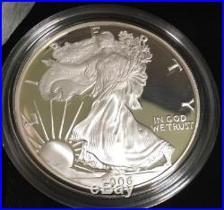 2006 SILVER AMERICAN EAGLE 20th ANNIVERSARY 3 COIN SET