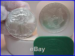 2008 American Silver Eagles roll of 20 1oz. Coins uncirculated