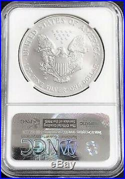 2008-W American Silver Eagle Burnished Reverse of 2007 NGC MS70 Graded Certified