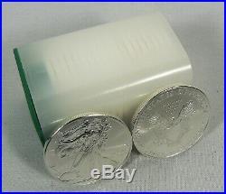2009 American Silver Eagle 1 oz Twenty 20 BU Coins in Mint Tube