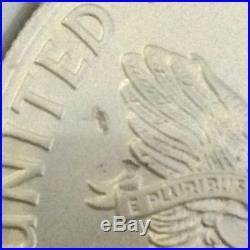 2009 USA $1 Silver Eagle REVERSE STRUCK THRU MINT ERROR MS 69 NGC Coin