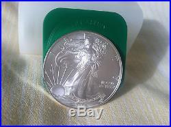 2010 American Eagle 1oz silver bullion coins Roll of 20 UNC Full Roll