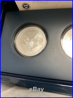2011 $1 American Silver Eagle 25th Anniversary 5 pc. Silver Coin Set Fresh