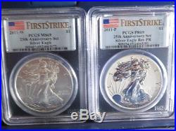 2011 25th Anniversary American Eagle Silver 5 Coin Set OGP FIRST STRIKE NGC 69