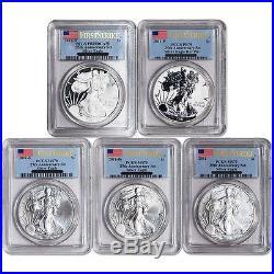 2011 25th Anniversary Silver Eagle 5 coin Set PCGS 70 FS