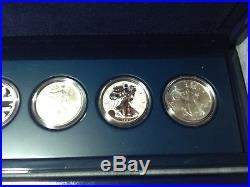 2011 5pc REVERSE PROOF Silver Eagle 25th Anniversary Coin Set Box COA AC A25