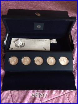 2011-American Eagle 25TH Anniversary Silver (5) Coin Set