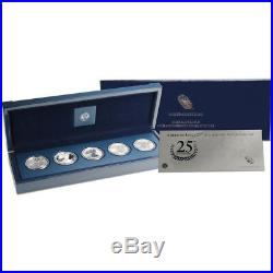 2011 American Silver Eagle 25th Anniversary 5-Coin Set