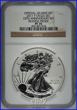 2011-P NGC PF70 Ultra Cameo Reverse Proof Silver Eagle