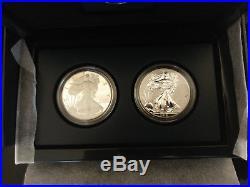 2012 2 Coin American Eagle 75th Anniversary San Francisco Set with Box and COA