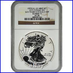2012-S NGC PF70 Ultra Cameo Reverse Proof Silver Eagle San Francisco