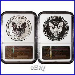 2013-W West Point Silver Eagle 2pc Set NGC PF69 & SP69 ER Blue ER Label