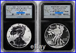 2013-W West Point Silver Eagle Set Early Release PF70/SP70 NGC Retro Star Label