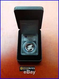 2014 $1 Australia Wedge Tailed Silver Eagle Pcgs Pr70 Dcam High Relief Mercanti