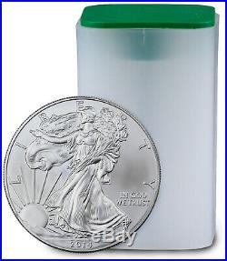 2014 1 oz American Silver Eagle Roll of 20 BU Coins SKU29722