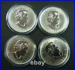 2014 2015 Canada $5 Birds of Prey Series Falcon Eagle Hawk Owl 1oz Silver Coin