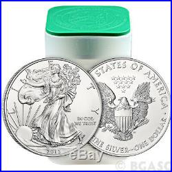 2015 Mint Roll of 20 1 Troy oz. 999 Fine Silver American Eagle $1 BU Coins