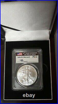 2015-(P) $1 Silver Eagle PCGS MS70 Mercanti Signed