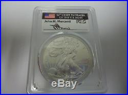2015-(P)-SILVER EAGLE PCGS MS69 MERCANTI. ONLY 79,640 Struck IN PHILADELPHIA