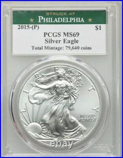 2015-(P) Silver Eagle PCGS MS69