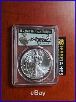 2015 (p) Silver Eagle Pcgs Ms69 T. Cleveland Struck At Philadelphia Mint 79,640