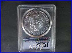 2015 (p) silver American eagle PCGS MS 69 Green label