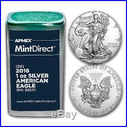 2016 1 oz Silver American Eagles (20-Coin MintDirect Tube)
