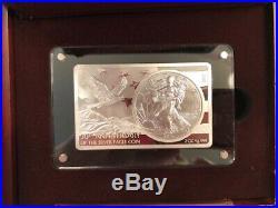 2016 30th Anniversary 3oz Pure Silver Coin and Bar Set/American Silver Eagle